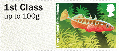 Three-Spined Stickleback stamp.