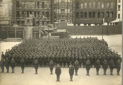 The Post Office Rifles on parade. (POST 56/6)