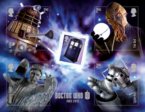 Doctor Who miniature sheet.