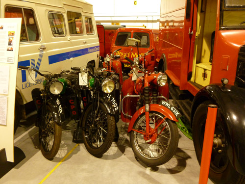 Postal vehicles at the Museum Store.