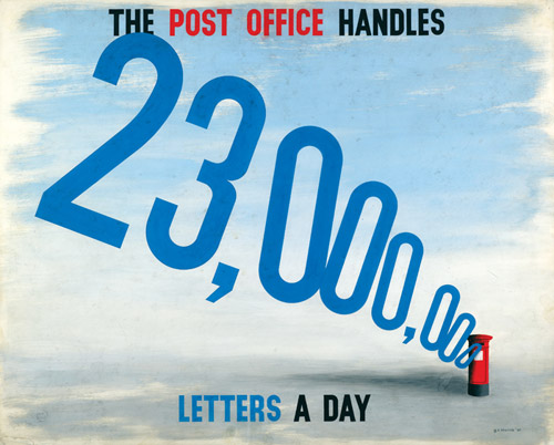 The Post Office handles 23,000,000 letters a day, 1947. Designer: G R Morris (POST 109/195)