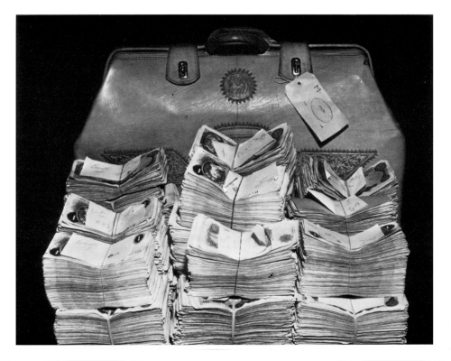 The bulk of the money stolen during The Great Train Robbery has never been recovered. On 15 August 1963, four bags containing £100,900 were found in woods near Dorking.