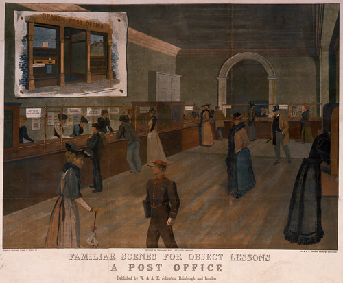 Familiar Scenes for Object Lessons. A Post Office by W & A K Johnston