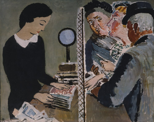The Last Minute. Poster promoting the benefits of posting mail early. Artist: Vanessa Bell. Date: 1935. (POST 110/2489)