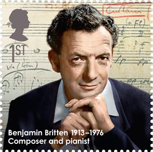 Benjamin Britten, 1913-1976 - Composer and pianist.
