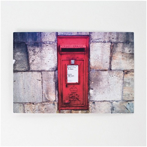 Postcard showing a Queen Elizabeth II wall box.