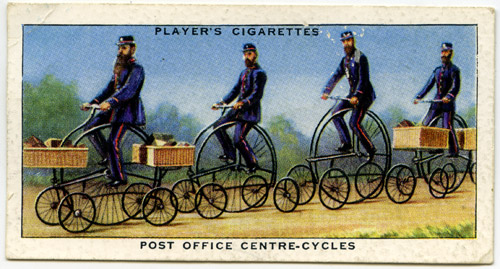 Hen and chicks cigarette card.