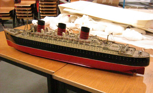 Model of the HMS Queen Mary.