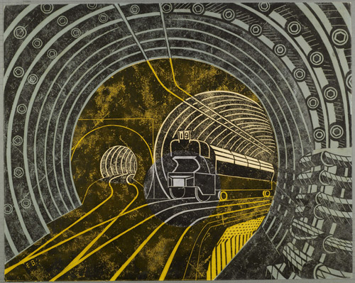 Poster design: Post Office Tube Railway, Edward Bawden, c. 1935.