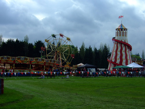 This steam driven fairground is over 100 years old.