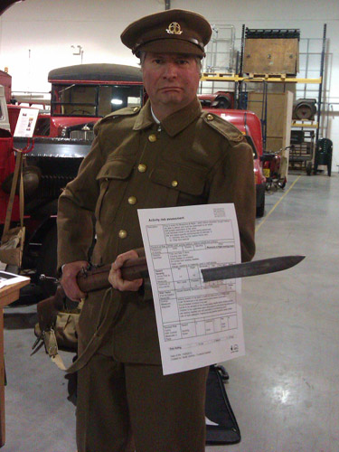 Before home time there was one more performance from Roland, telling the story of the Post Office Rifles regiment in the First World War.
