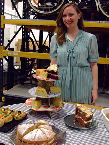 After all that acting, our visitors were invited to a tea party, with complimentary refreshments served by Hannah, our glamorous Community Learning Officer.