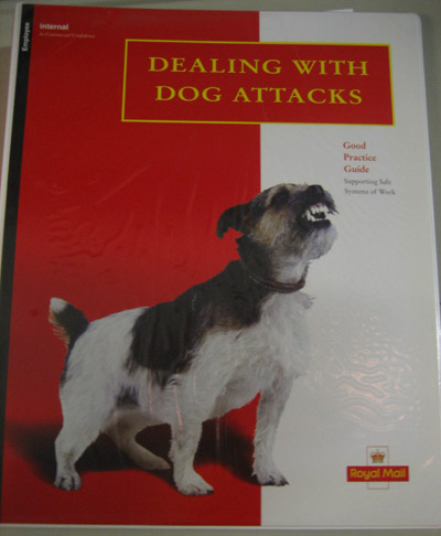 Staff guide on dealing with dog attacks, 1998.