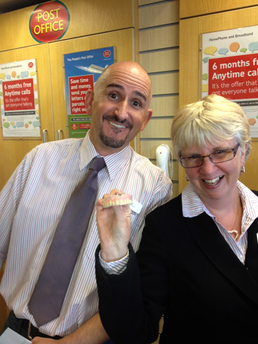 Post Office staff were amused when this set of false teeth came in to be posted!