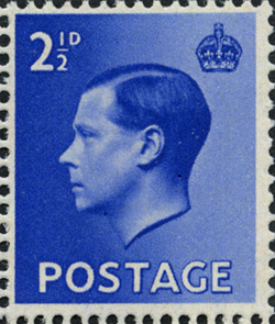 King Edward VIII 2 1 D Stamp