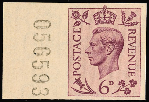 Lot 191 - 6d stamp from a collection of King George VI issues, estimated at £75,000-£100,000.