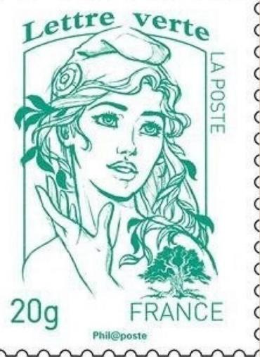 The controversial Marianne stamp.