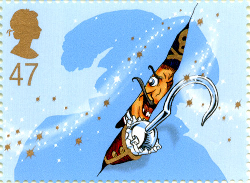 Captain Hook stamp, issued 20 August 2002.