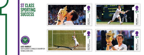 Andy Murray miniature sheet.