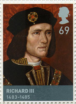 Richard III (1483-1485) stamp, issued 28 February 2008.