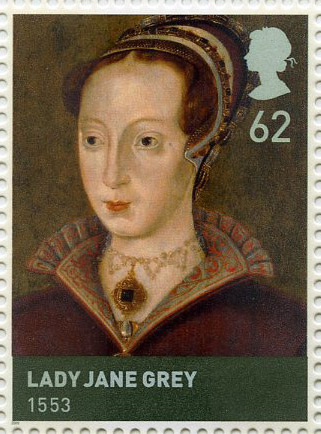 Lady Jane Grey (1553) stamp, issued 21 April 2009.