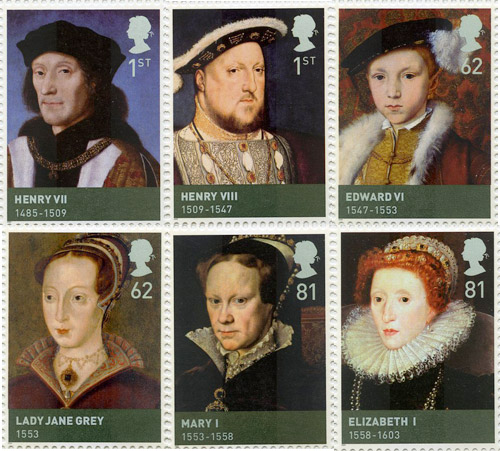 House of Tudor stamps, issued 21 April 2009.