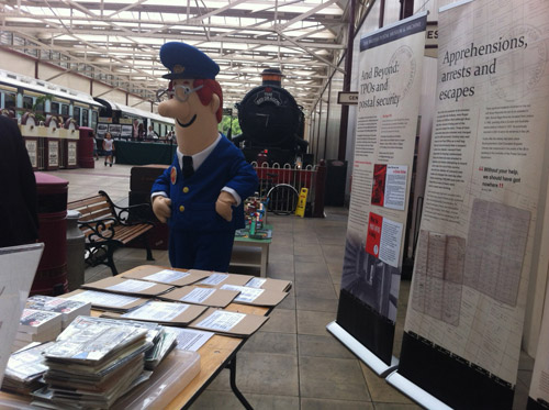 Postman Pat visits the exhibition.