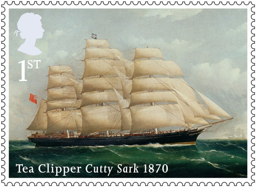 Merchant Navy stamp -1st Class - Cutty Sark, 1870.