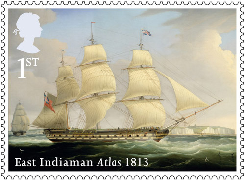 Merchant Navy stamp - 1st Class – Atlas, 1813.