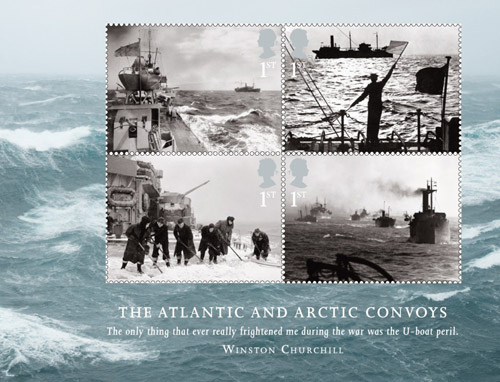 Merchant Navy: Miniature Sheet - The Atlantic and Arctic Convoys.