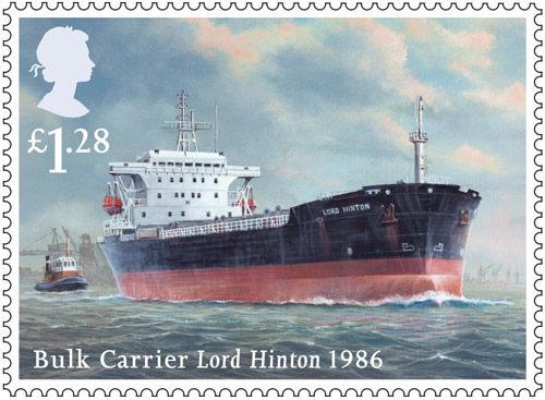 Merchant Navy stamp - £1.28 - Lord Hinton, 1986.