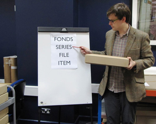 Matt describes a grouping of related records (a series) within the fonds.