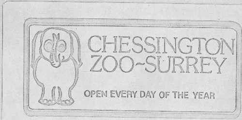 The revised Chessington Zoo slogan featuring an elephant. (POST 154/3)