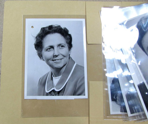Repackaged and catalogued Courier photographs. This portrait (POST 118/14028.jpg) shows Dorothy Fothergill, appointed Director of the London Postal Region in 1971.