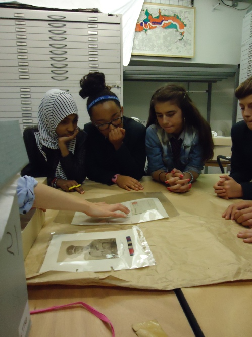 Students discover the story of Home Peel, one of the Post Office Rifles.