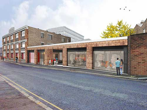 Proposed exterior of the new postal museum at Calthorpe House.