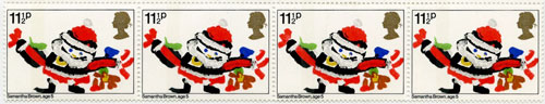 1981 11½p Christmas Stamp designed by Samantha Brown