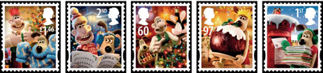 2010 Christmas Stamps featuring Wallace and Grommit