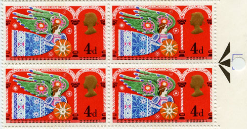 Christmas 1969 4d stamp - a window onto 1960s sensibilities.
