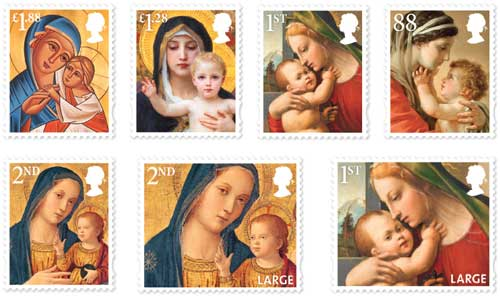 Madonna and Child Christmas stamps available from 5th November.