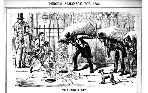 Cartoon from Punch's Almanack for 1854