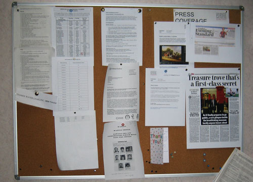 The tidied noticeboard (you should have seen it before!)
