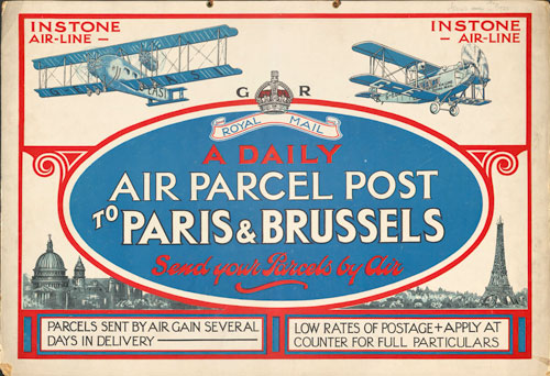 Postcard advertising air parcel post (POST50/36)