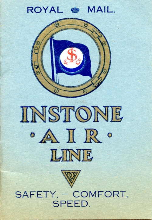 Instone Air Line service timetable (image copyright © Martin Instone)