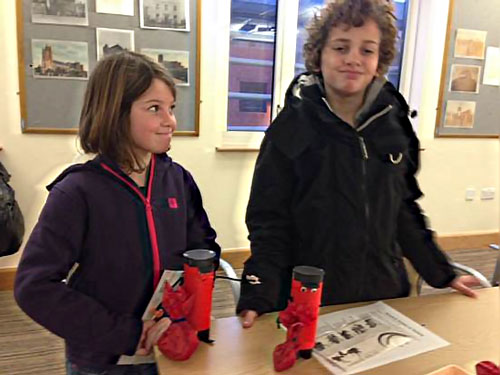 Children undertake postal themed activities at Beverley Art Gallery