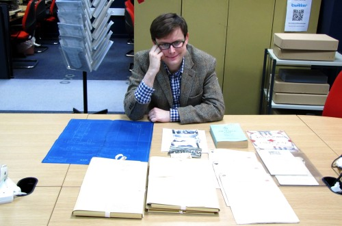 Matt presents a small selection of the Army Postal Service files he's been cataloguing.