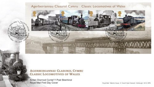 Classic Locomotives of Wales - First Day Cover.