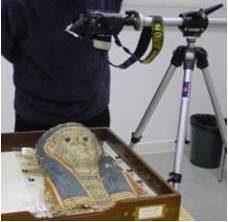 Photogrammetry of an Egyptian Cartonnage Mask from the UCL Petrie Museum of Archaeology.