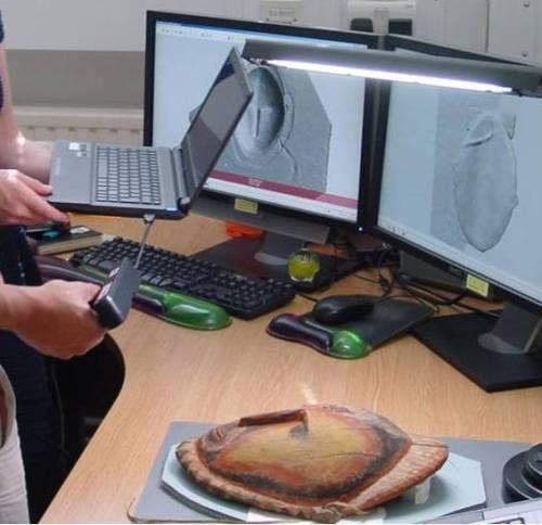 A low cost 3D sensor is used to 3D scan a Sepik Yam mask from the UCL Ethnographic Collection.