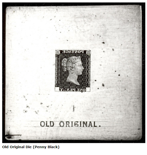 'Old Original' Penny Black Die, 1840.